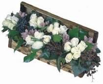 Gölbaşı çiçek yolla , çiçek gönder , çiçekçi   13 adet beyaz sandikta gül