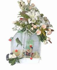 Gölbaşı çiçekçi telefonları  Muhabbet kusu ve çiçekler